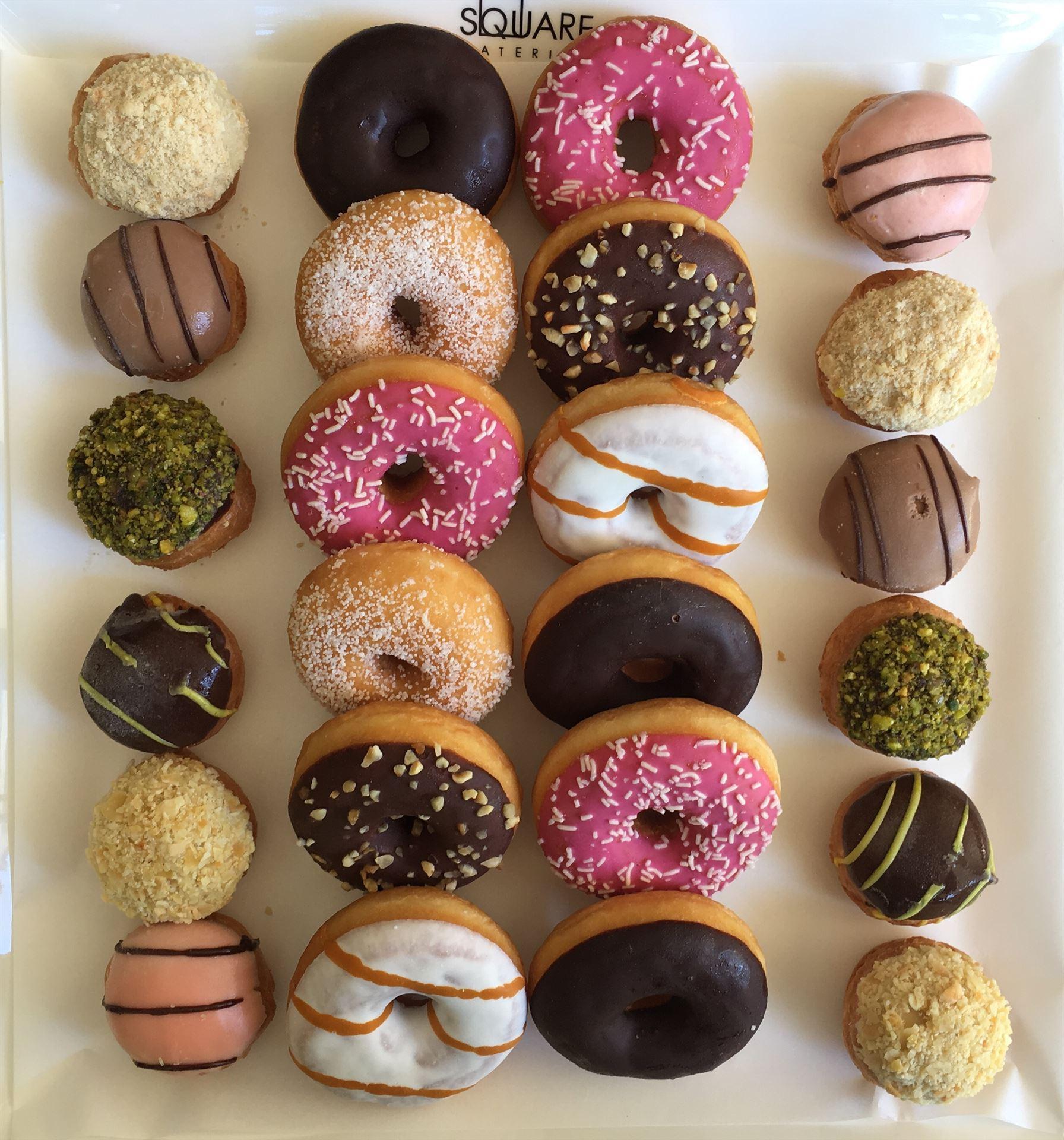 Mini Profiterole & Donut Platter-Medium 24