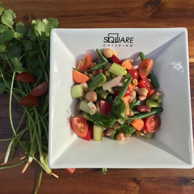 Mix Beans and Cherry Tomato Salad-VEG-Vegan-GF-DF