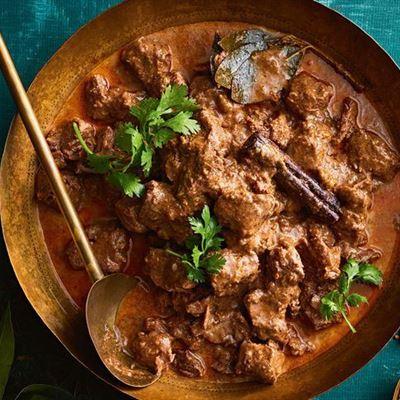 Lamb rogan josh with rice
