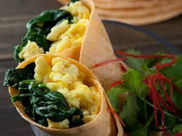 Breakfast Wraps Egg & Spinach