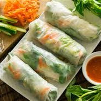 Rice paper roll (GF) (DF) available (V) (Vegan)
