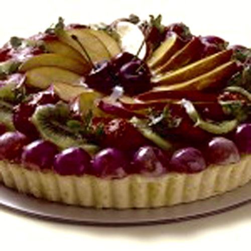 Large Fruit Custard Flan