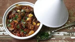 Lamb and prune tagine with rice