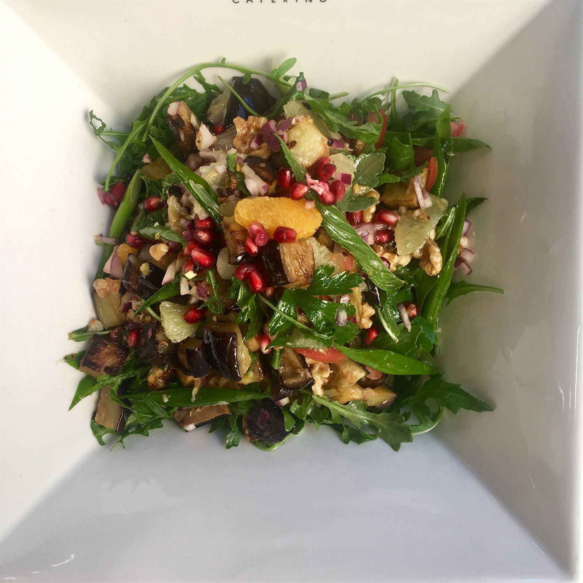 Mediterranean Eggplant Salad-VEGAN-GF-DF