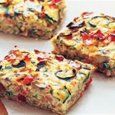 Vegetarian Frittata-Meal Size