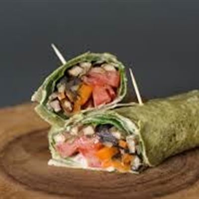 Breakfast Wraps Mushroom, Tomato &Spinach  VEGAN