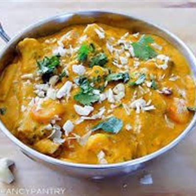 Vegetarian Korma Curry with rice GF