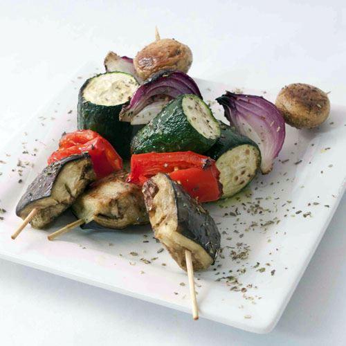 Char grill vegetable skewer (V)