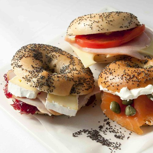 Cocktail Bagel Salmon, Cream Cheese & Capers