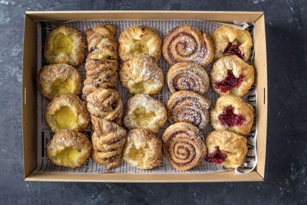 French pastry selection platter
