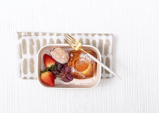 Danish, Donut and Fruit Box