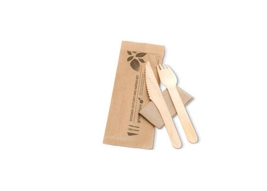 Eco Friendly Fork, Knife and Napkin Set