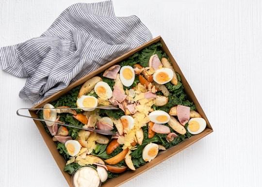 Chicken & Kale Caesar Salad