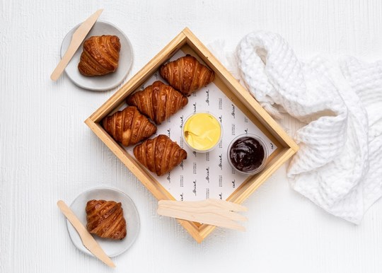 Mini Croissants - with Jam and Butter