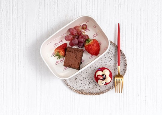 Brownie, Petit Fours and Fruit Box