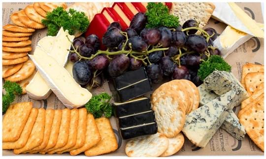 Cheese, Cracker & Grape Platter