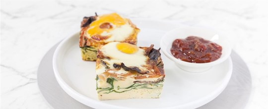 Individually packaged - Breakfast Frittata piece - Main Serving Size