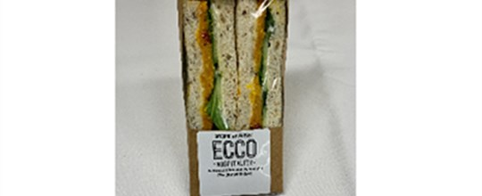 Individual boxed sandwich