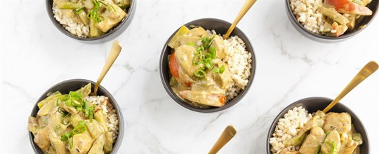 Thai Chicken Curry, Kaffir Lime Rice & Bean Sprouts (bowl)
