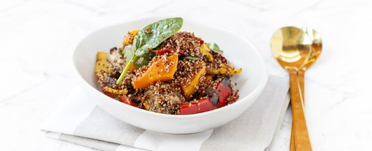 Red Quinoa and Roasted Vegetable Salad - Large