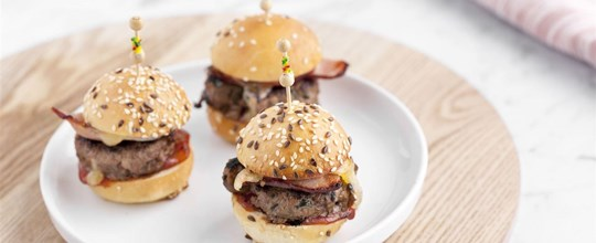 Gourmet Mini Brioche Beef & Bacon Slider