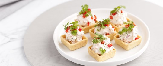 Roast Capsicum and Goats Cheese Tarts (V)