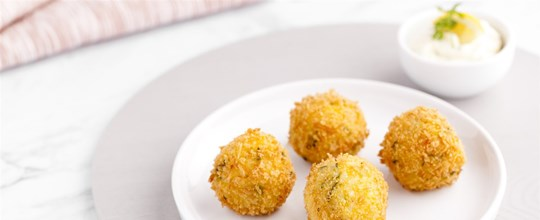 Pumpkin & Feta Arancini with Lemon aioli