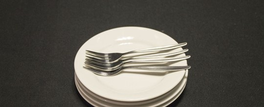 Hire Ceramic plate with cutlery