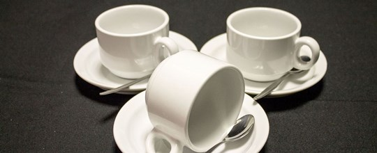 Hire Coffee Cup, teaspoon and saucer