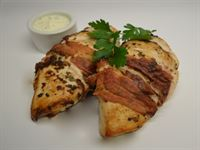 Protein Plus: Chicken Wrapped in Prosciutto & Sage with a Herbed Sour Cream (GF)