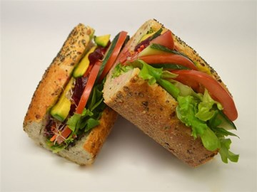 Multigrain Baguette - Large Salad & Beetroot Chutney (Vegan)