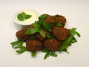 Protein Plus: Veg - Falafel Balls with Mint Yoghurt (GF/V/HALAL)