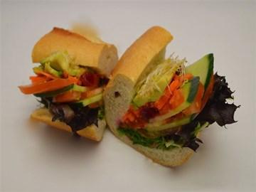 Baguette - Small Vegan Salad & Beetroot Chutney (Vegan)