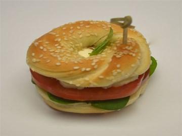 Bagel - Small: Bocconcini, Tomato, Basil (v)