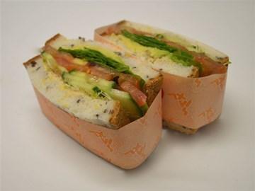 Gluten Free Sandwich: Hommus & Salad (V)