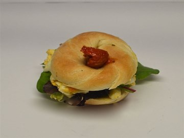 Bagel - Breakfast: Sun Dried Tomato, Egg & Mixed Leaves