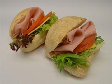 Rolls - Small (Cocktail): Ham, Cheese & Tomato