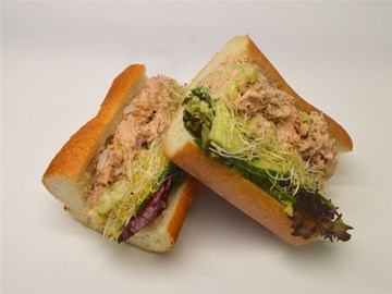Baguette - Large Tuna, lemon mayo, cucumber and mixed leaves