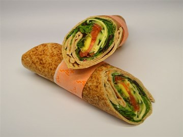 Back 2 Basic Wrap- Cheese & Salad (V)