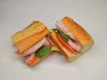 Baguette - Small Ham, Cheese, Tomato & Basil