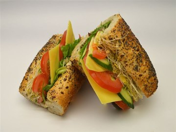 Multigrain Baguette - Large Cheese and Salad (V)