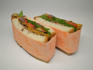 Gluten Free Sandwich: Roast Veg, Spinach & Tapenade (V)