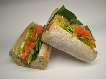 Wholemeal Baguette - Smoked Salmon