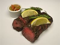 Protein Plus: Lamb Herb Crusted with Tomato and Olive Salsa