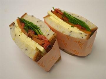 Gluten Free Sandwich: Pumpkin & Haloumi (V)