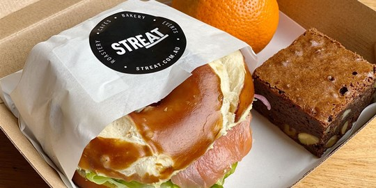 House Cured Salmon Bagel Lunch Box
