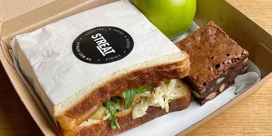 Milk Loaf Chicken Sandwich Lunch Box