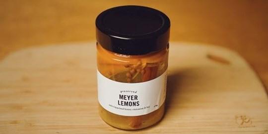 Preserved Meyer Lemons w/ Gippsland Honey, Cinnamon, & Bay (375g)