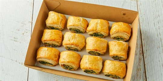 STREAT Bakery spinach & ricotta rolls with relish (v)