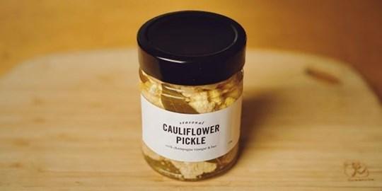 Cauliflower Pickle w/ with Champagne Vinegar & Bay (275g)